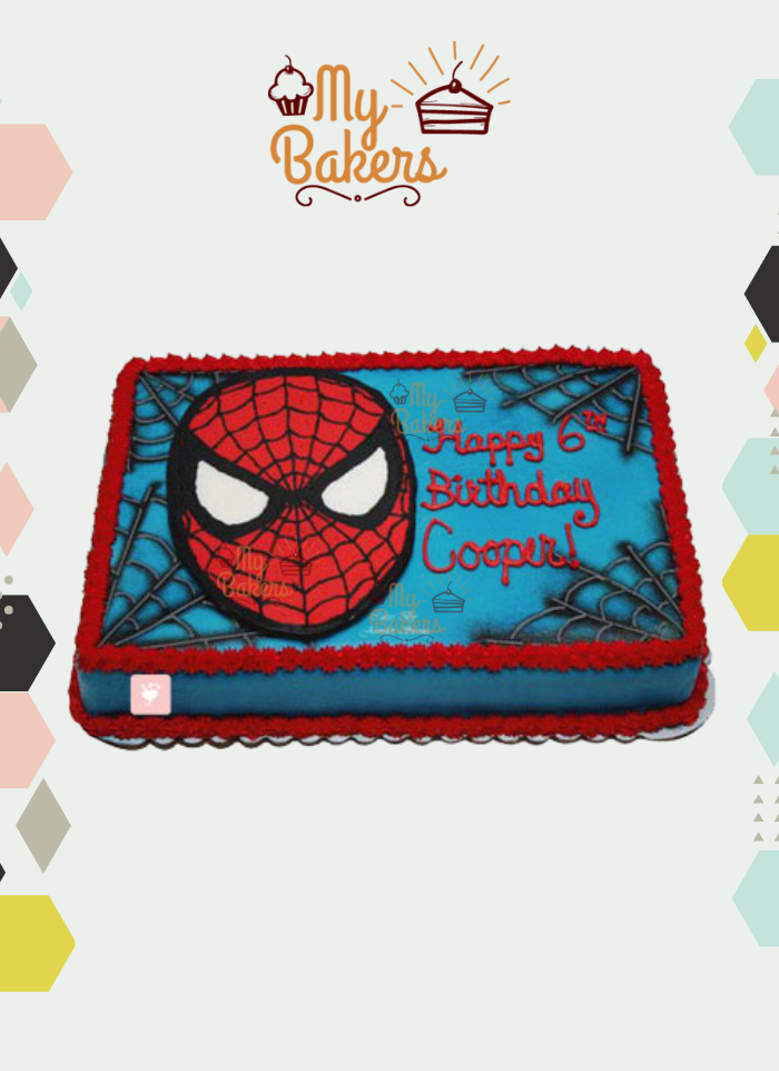 Yummy Spiderman Theme Cake