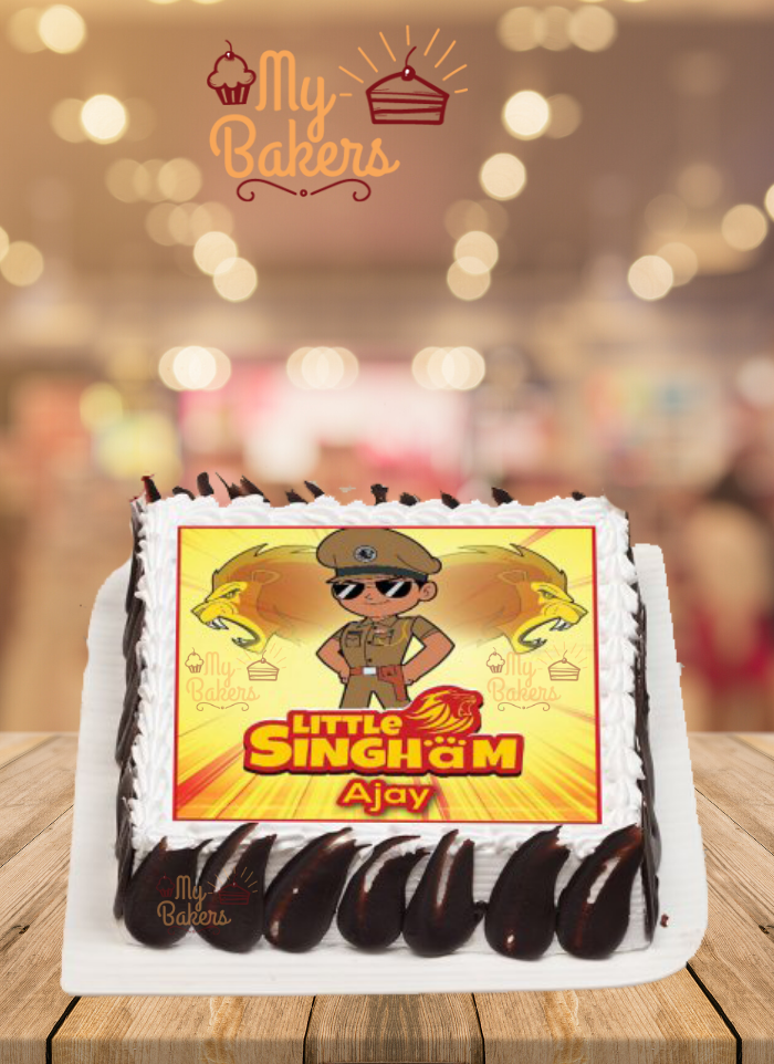 Little Singham Photo Cake