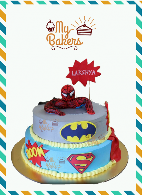Heavenly Super Hero Theme Cake