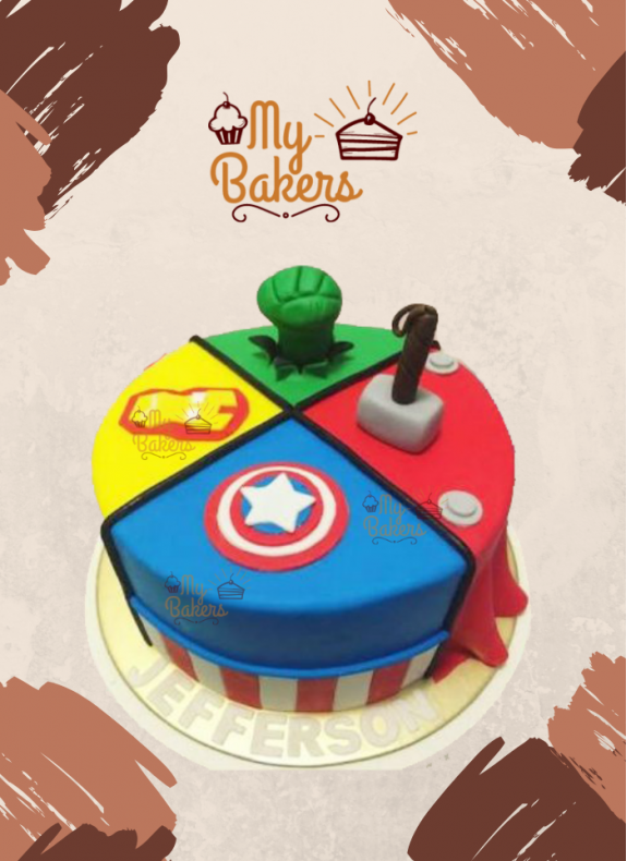 Ravishing Super Hero Theme Cake