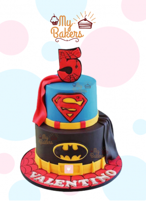 Delicious Super Hero Theme Cake