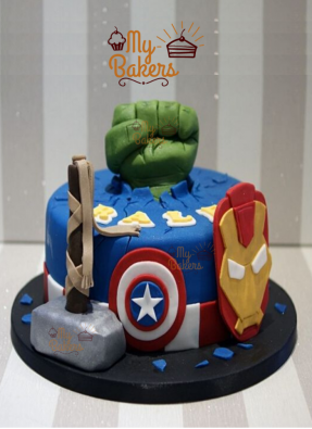 Luscious Super Hero Theme Cake