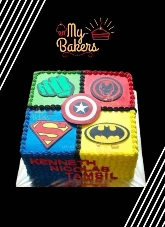 Heroic Super Hero Theme Cake