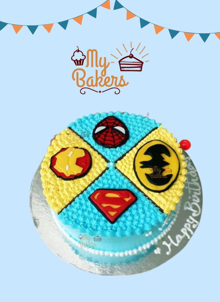 Delightful Super Hero Theme Cake