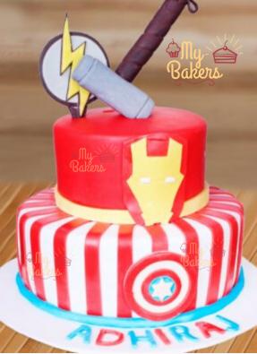 Adorable Super Hero Theme Cake