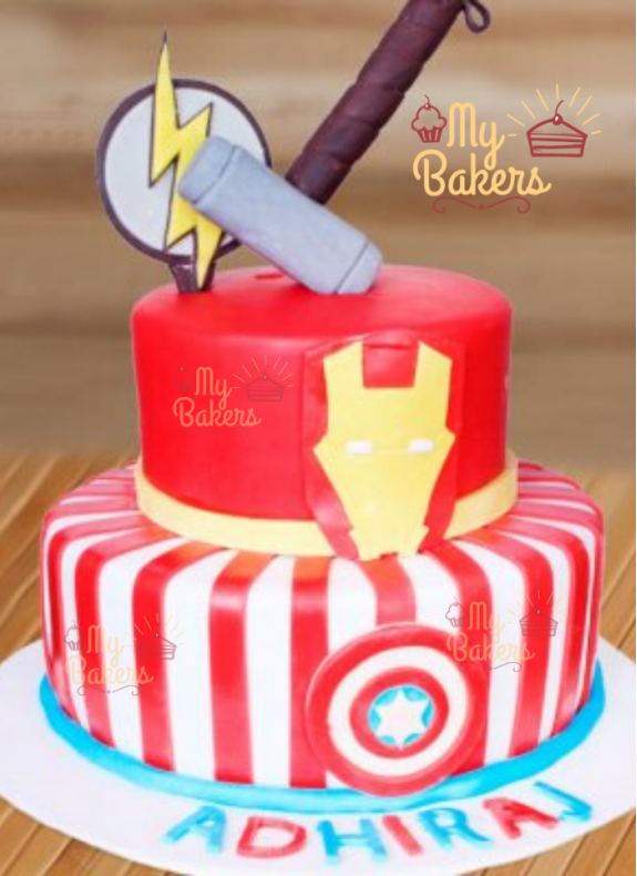 Adorable Super Hero Theme Cake