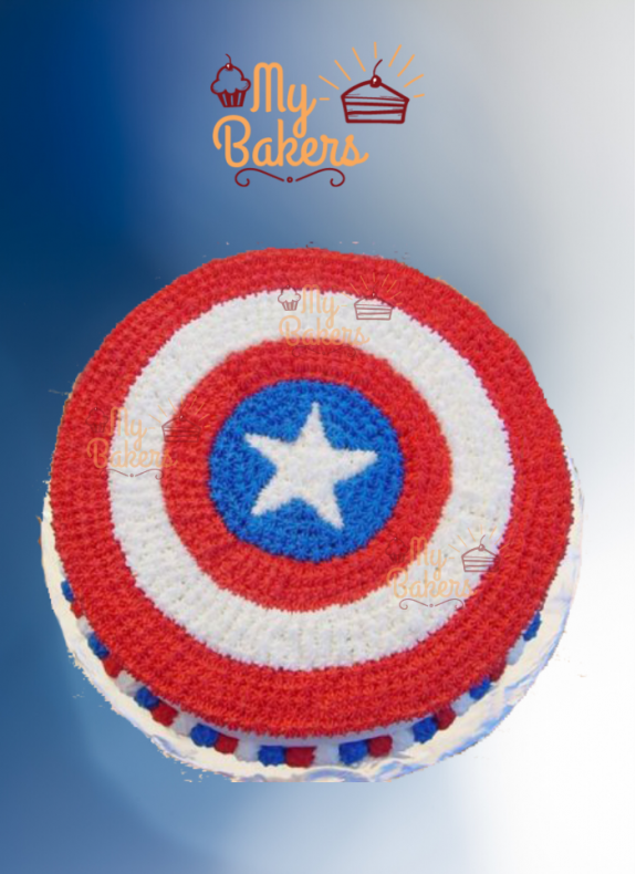 Yummy Super Hero Theme Birthday Cake