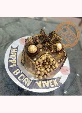 Vanilla Choco Nutella Birthday Cake