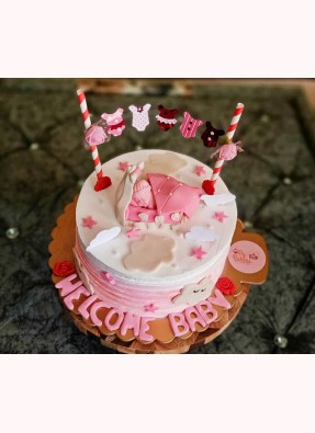 Welcome Home Baby Girl Theme Cake