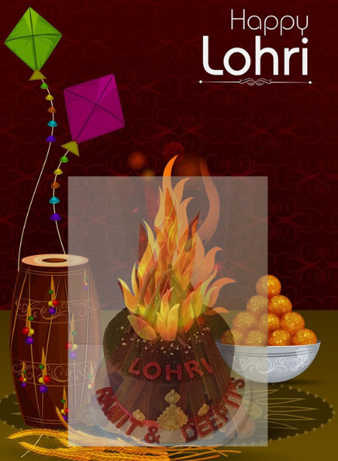 Cake For Lohri Celebrations