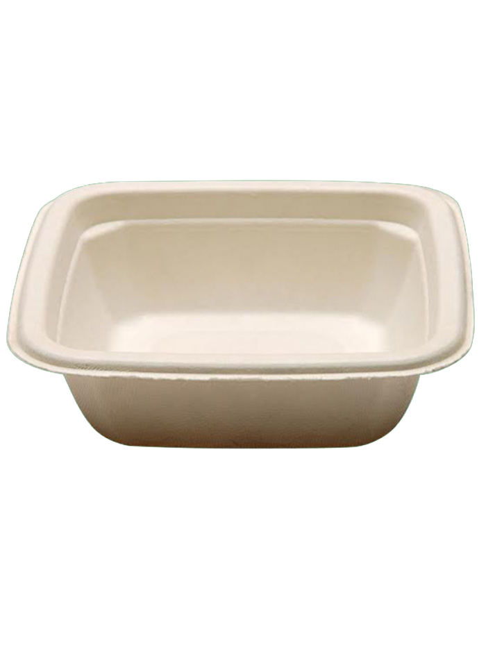 Biodegradable square bowl 180 ml pack of 50