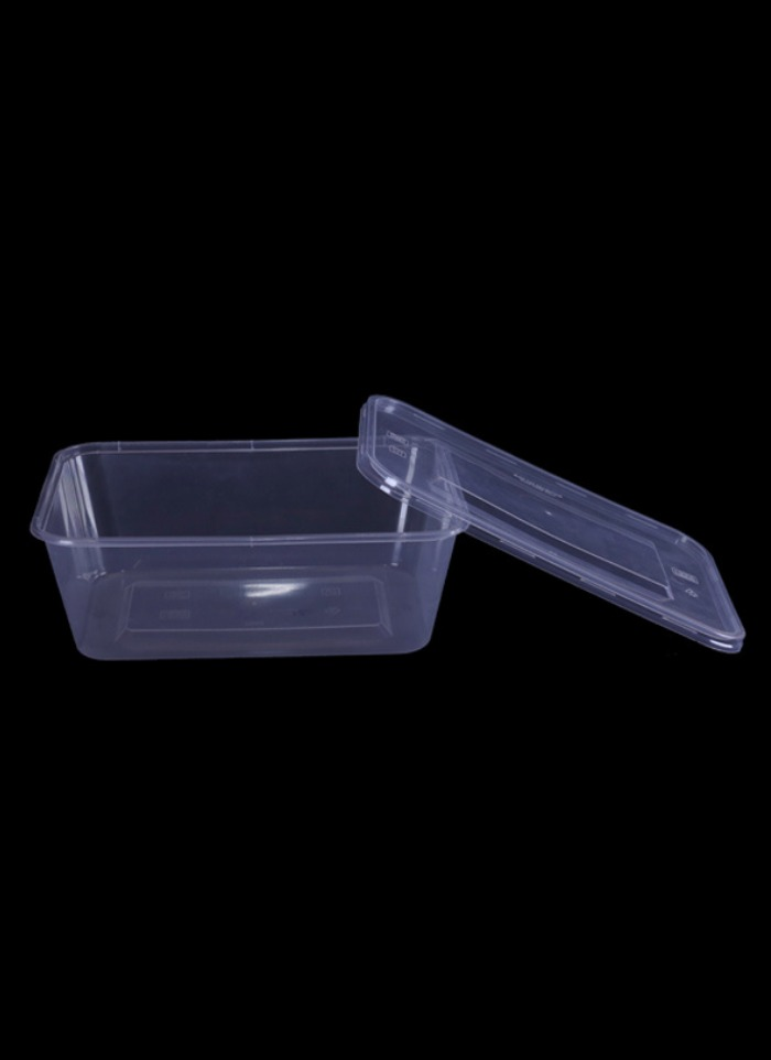 Elite Rectangle container 500-grams pack of 50