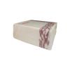 Luxury Premium Designer Cloth Napkin Cream & Maroon 40 x 40 cm pack of 50