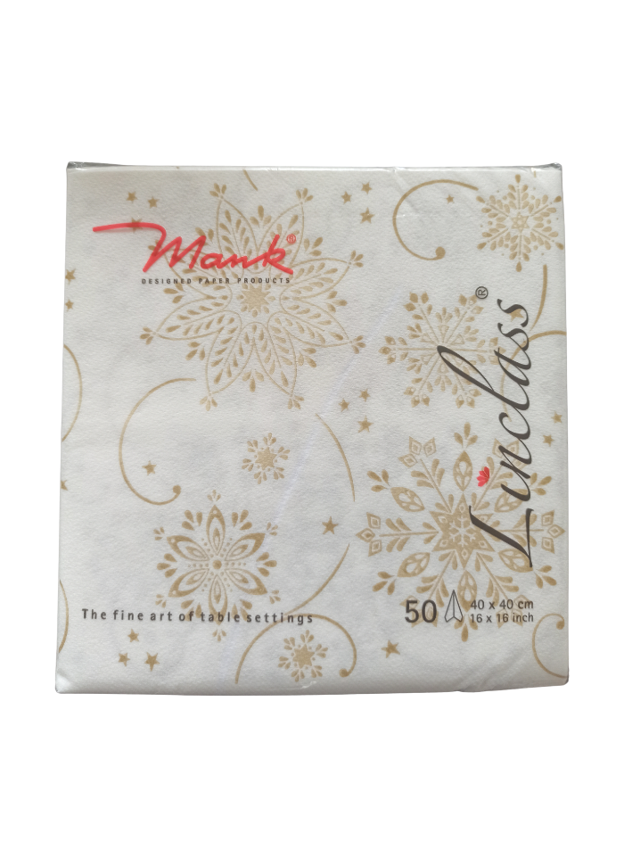Luxury Premium Designer Cloth Napkin White 40 x 40 cm pack of 50