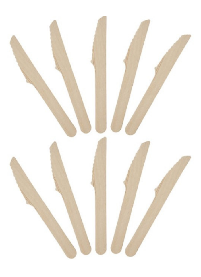 Wooden Biodegradable knife 16 cm pack of 100