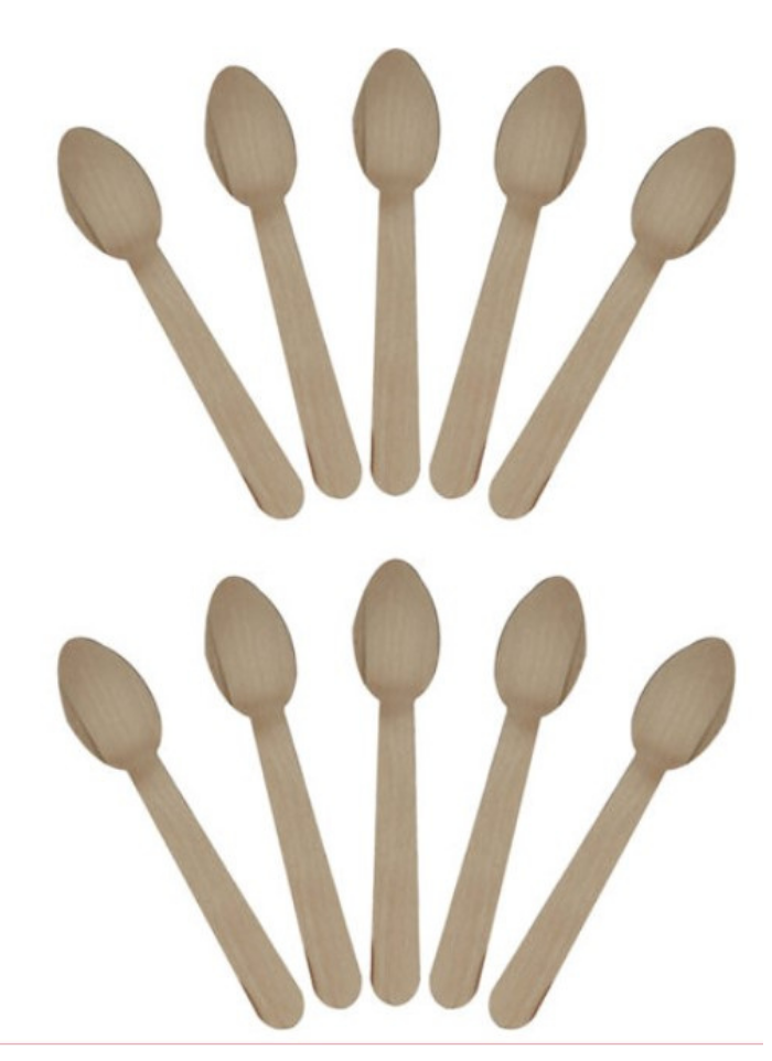 Wooden Biodegradable Spoon 14 cm pack of 100