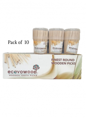 Wooden Biodegradable Toothpick 6.5 cm pack of 10