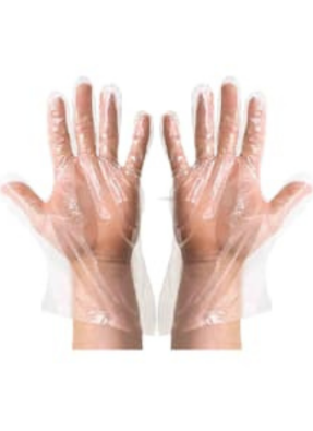 Plastic hand gloves 12 inch pack of 50 Pair