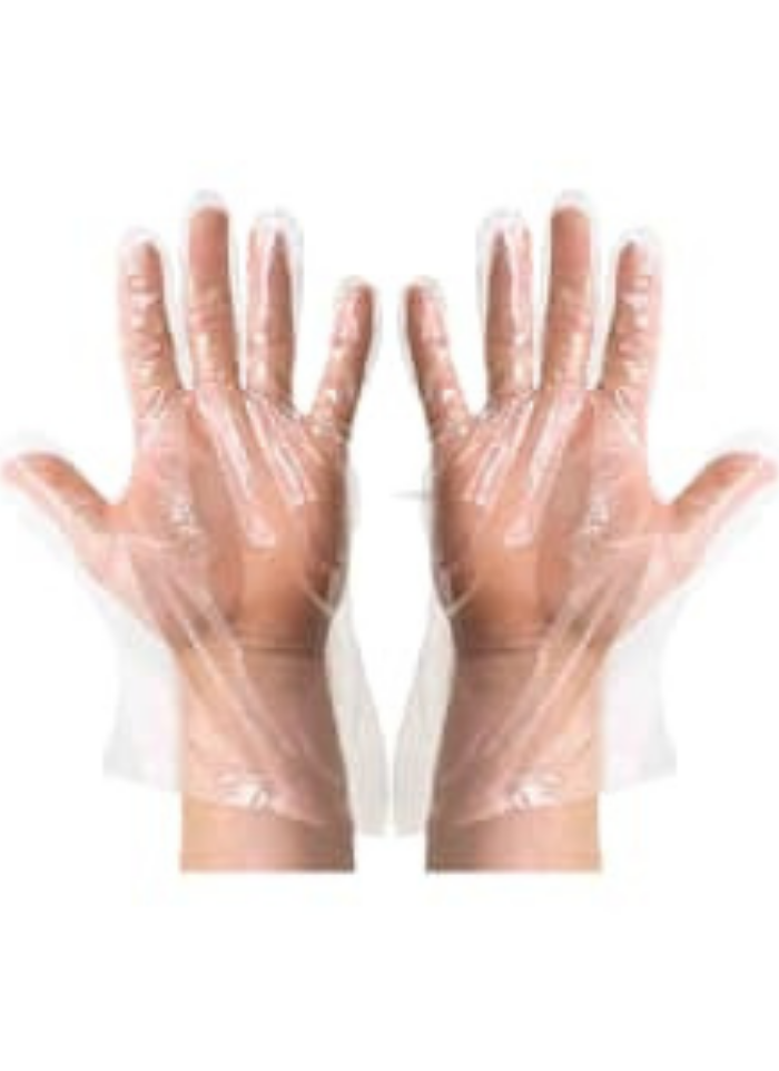 Plastic hand gloves 12 inch pack of 200 Pair