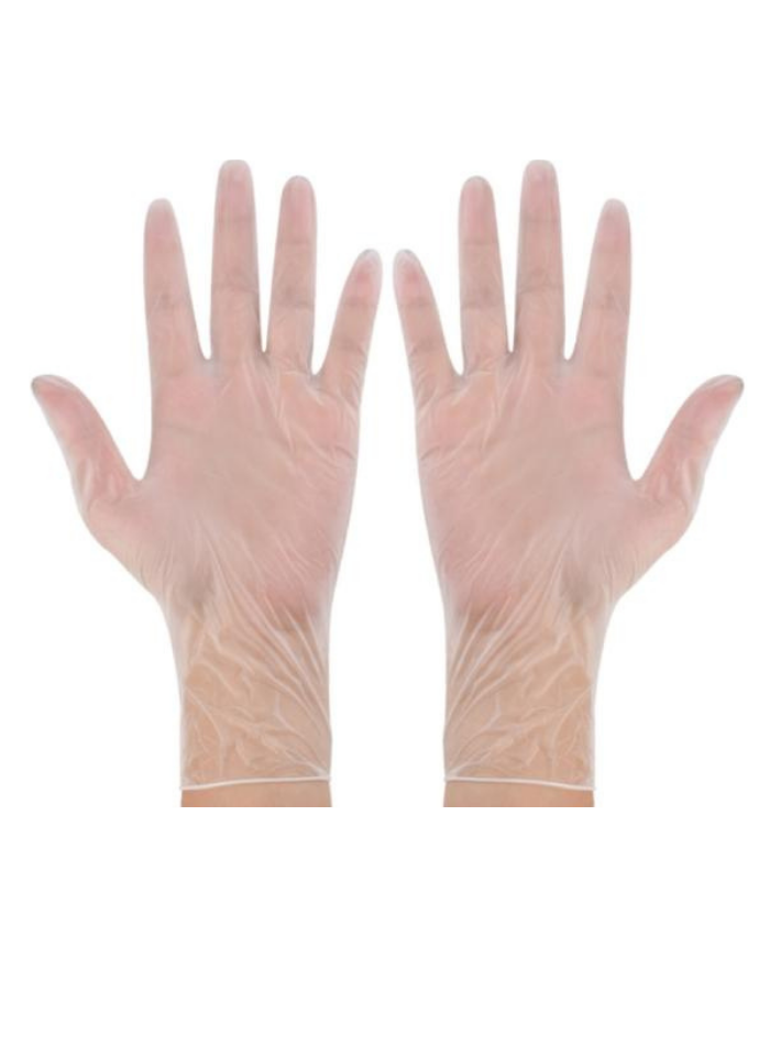 Surgical vinyl hand gloves 8.5 inch pack of 50 Pair