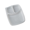 3 CP Mini Meal Tray with lid White pack of 10