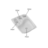 4 CP Meal Tray with lid White pack of 50