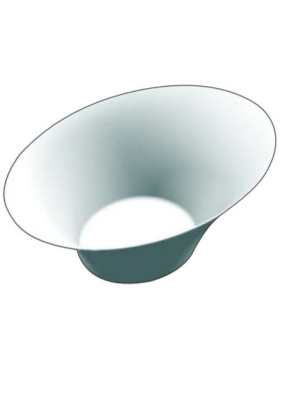 Bunny bowl round Black & White pack of 10