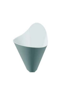 Cone small Black & White pack of 10