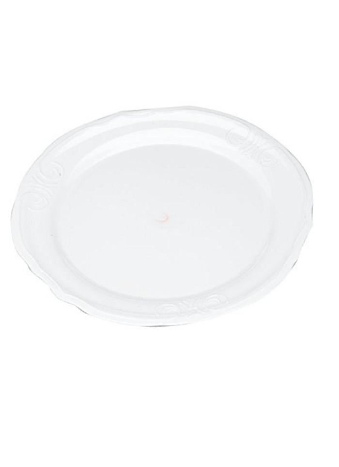 Flower plate big White pack of 10