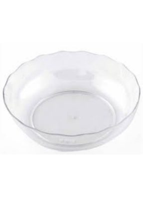 Lace round bowl Transparent 80 ml pack of 10