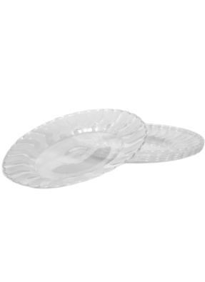 Plate Transparent 6 inch pack of 10