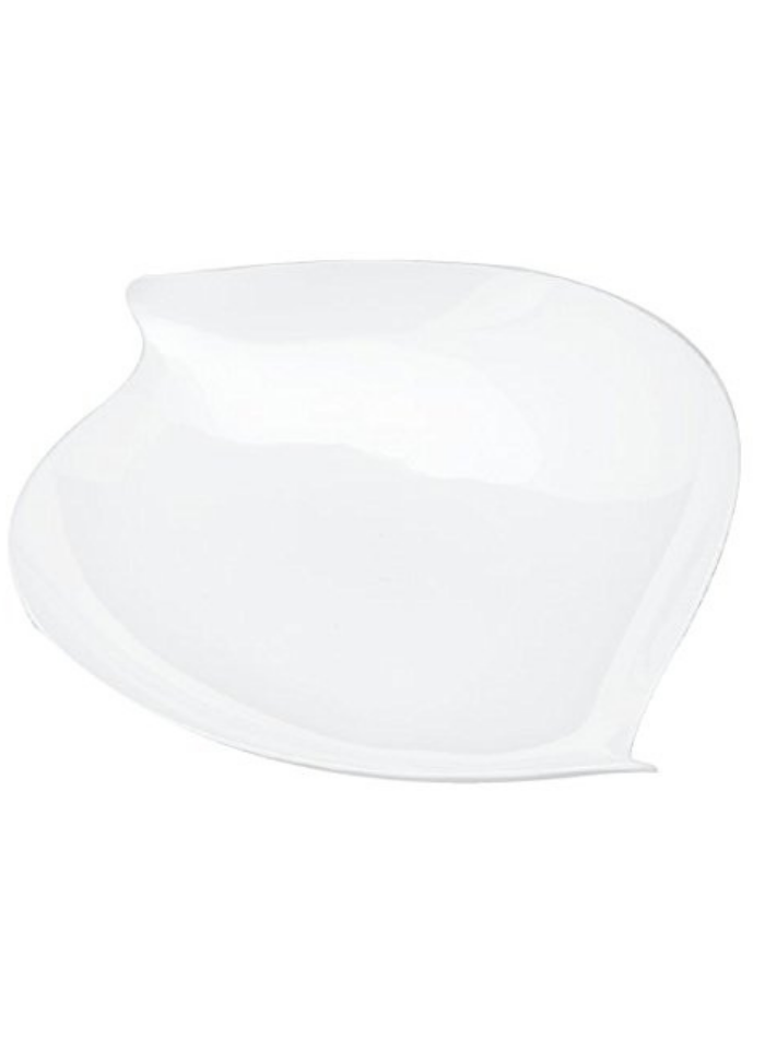Pyramid plate big White pack of 10