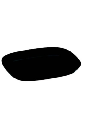 Rectangle plate small Black pack of 10