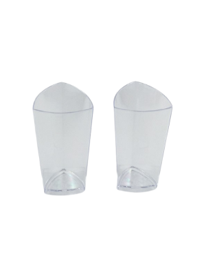 Triangle glass Transparent 70 ml pack of 10