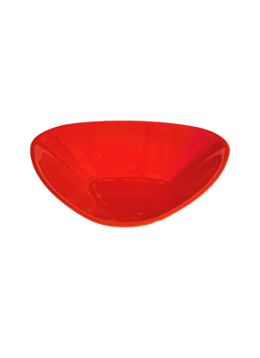 Vicks plate big 3.75x3.75 inch Red pack of 10