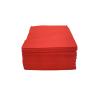 Premium Plain Paper Napkin 3ply Red 24 x 24 cm pack of 50