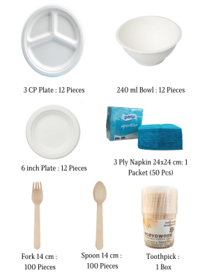 Biodegradable Party Pack for 10