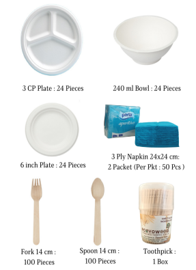 Biodegradable Party Pack for 20