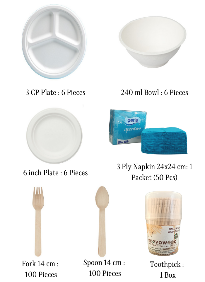 Biodegradable Party Pack for 5