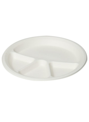 Biodegradable 4 cp round plate 12 inch pack of 50