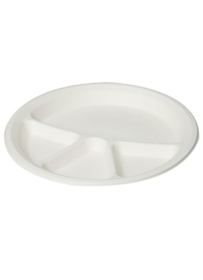 Biodegradable 4 cp round plate 12 inch pack of 10