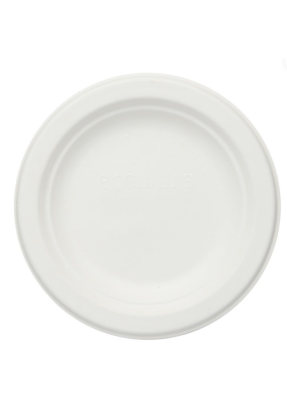 Biodegradable round plate 6 inch pack of 50