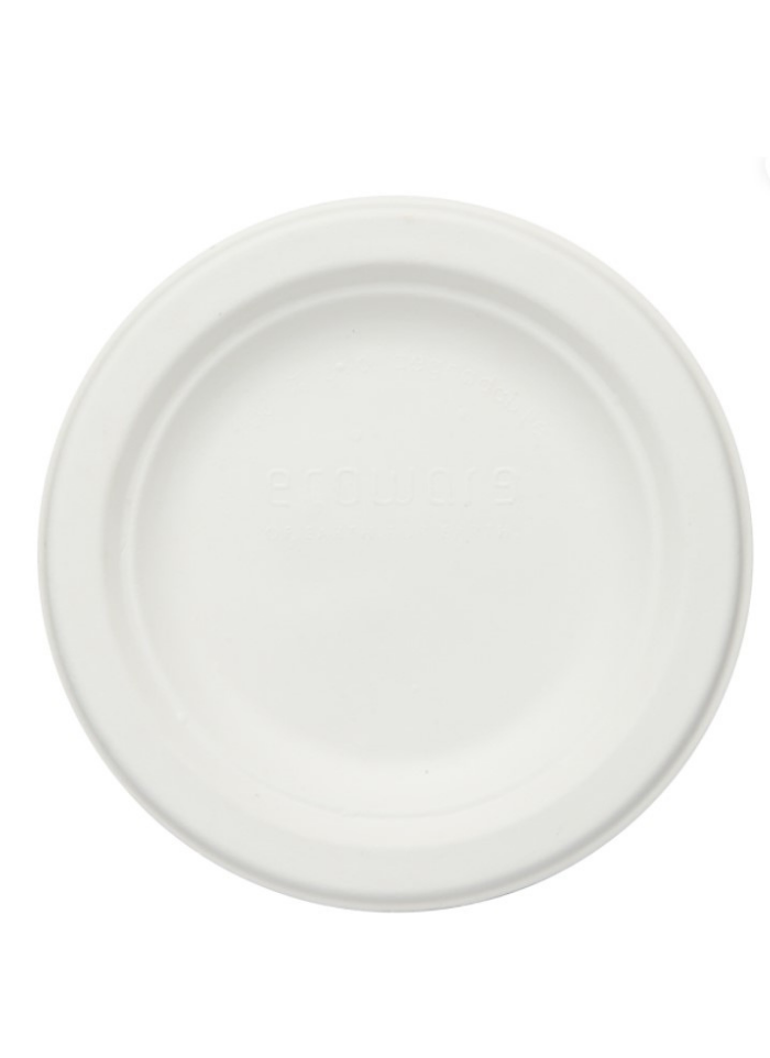 Biodegradable round plate 6 inch pack of 10