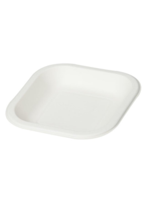 Biodegradable square plate 6 inch pack of 50