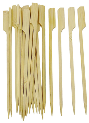 Wooden Biodegradable Skewer 6 inch pack of 50