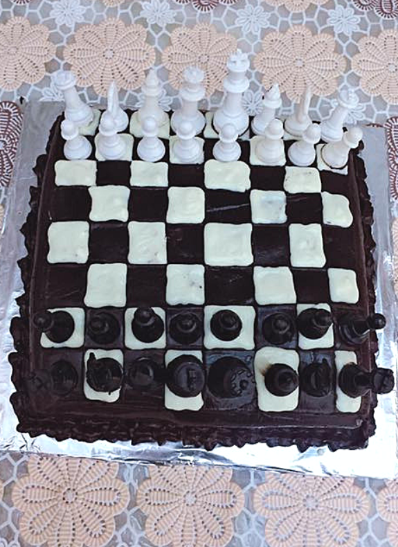 Chess theme cake