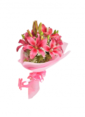 Pink Love Lily Bouquet