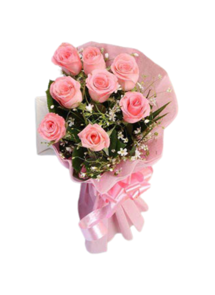 Baby Pink Roses Bouquet