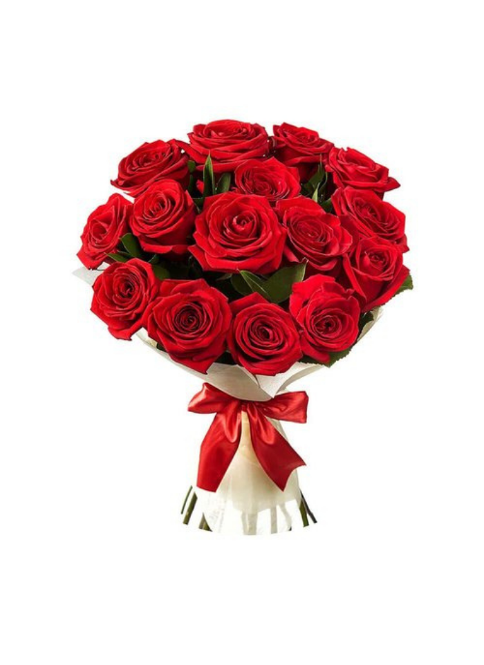 Beauty of Red Roses Bunch