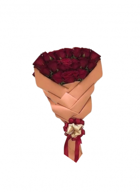 Pleasantly Red Roses Bunches